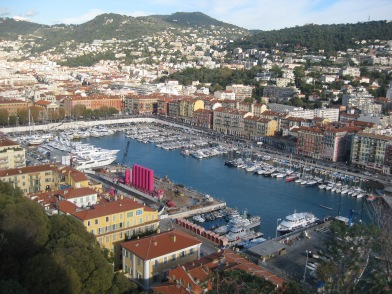 The port in Nice