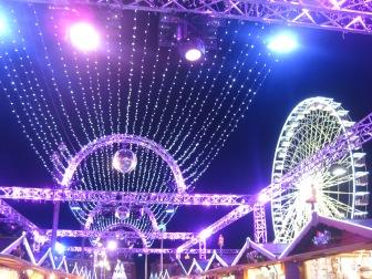 Lights over the Christmas market