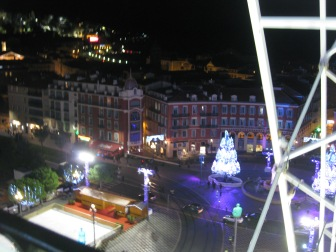A view of the square from the Ferris wheel