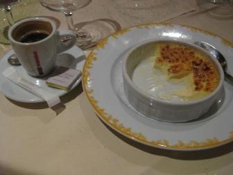 Mmm creme brulee for dessert :)