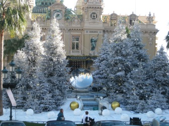 Christmas decorations in Monaco