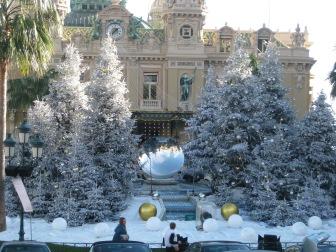 Christmas decorations in Monaco
