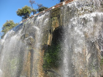Waterfall at the chateau