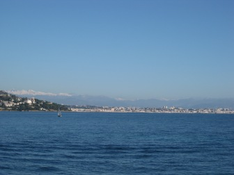 View of Cannes from the ferry