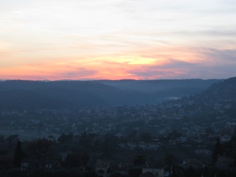 Sunset from St. Paul de Vence