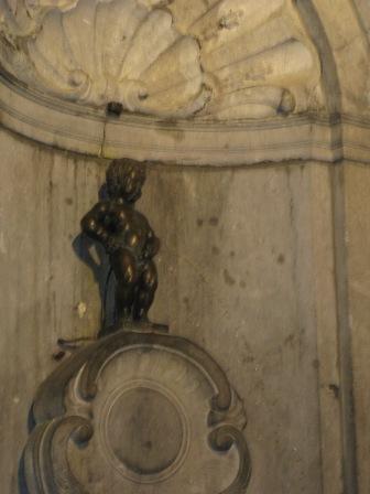 Manneken Pis, a famous Brussels landmark