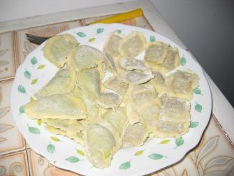 Ricotta ravioli and mushroom ravioli